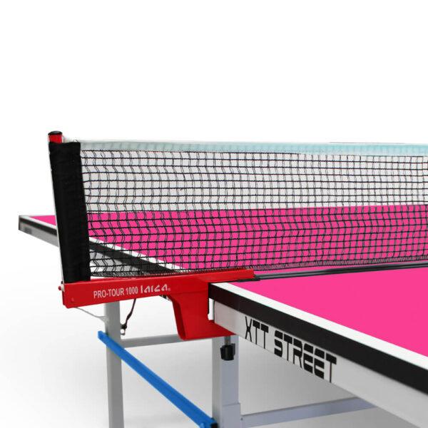 Mesa de Ping Pong XTT Street Pink Close Up Red