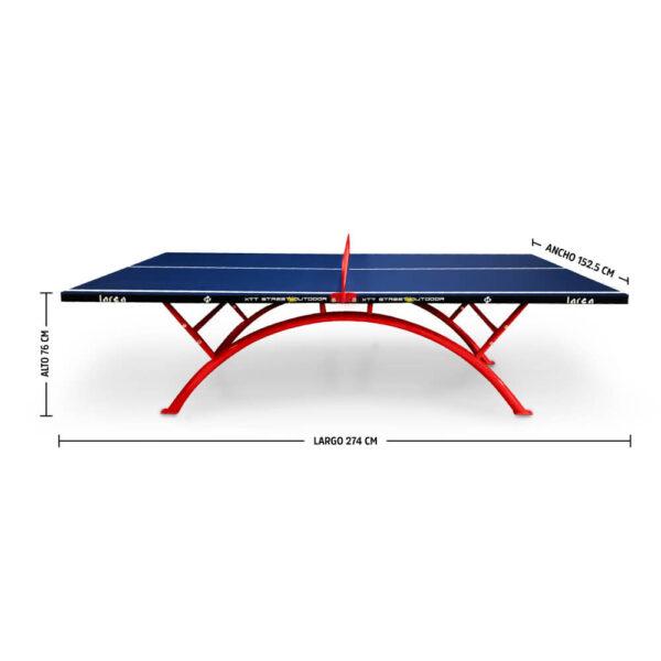 Mesa de Ping Pong para exterior Rainbow Outdoor Abierta
