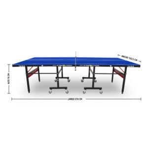Mesa de ping pong para exterior Storm Black Abierta