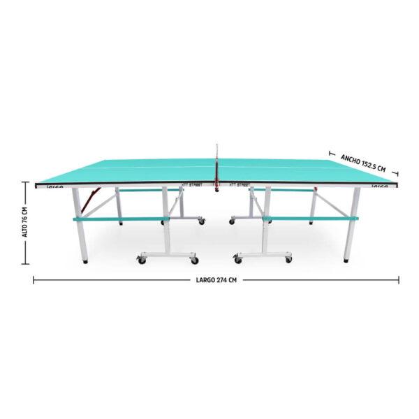 Mesa de ping pong xtt street aqua