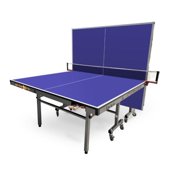 Mesa de ping pong con pelotero