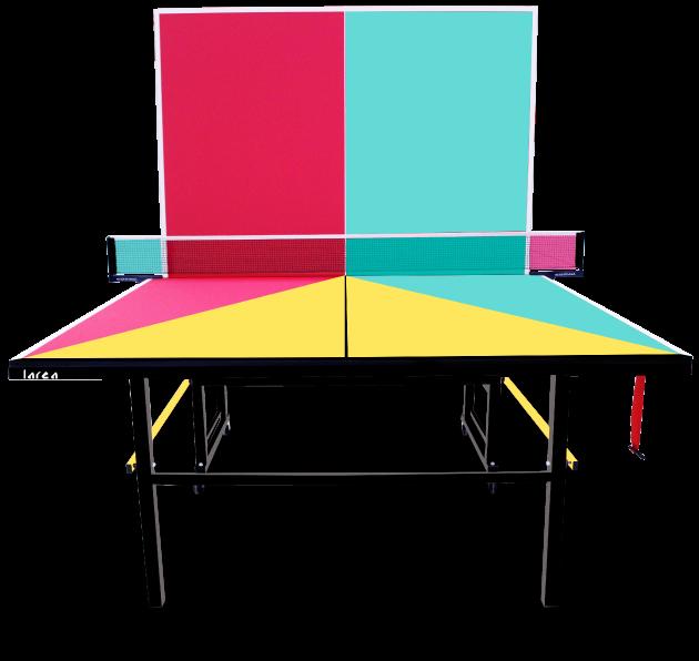 Mesas de Ping Pong Amarilla, Rosa, Turquesa